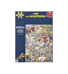 Jan Van Haasteren - Brandstationen - Puslespil 1000 brikker (81453H)