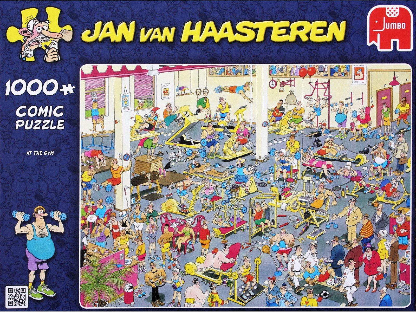 Jan van Haasteren - At the Gym - 1000 Piece Puzzle (81453K)