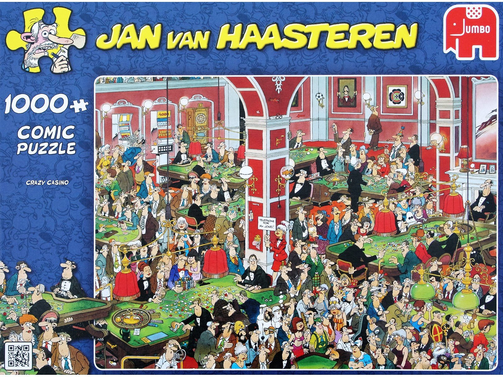 Jan Van Haasteren - Crazy Casino - 1000 Piece Puzzle (81453B)