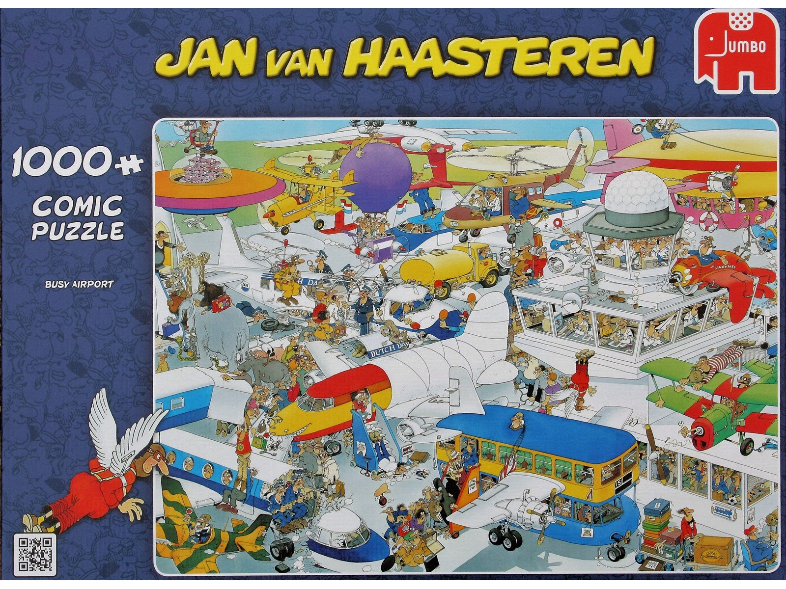 Jan Van Haasteren - Busy Airport - 1000 Piece Puzzle (81453J)