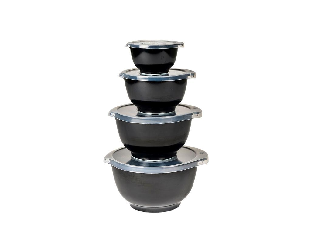 Rosti - Margrethe Bowls Set Of 4 Small - Black (12594)