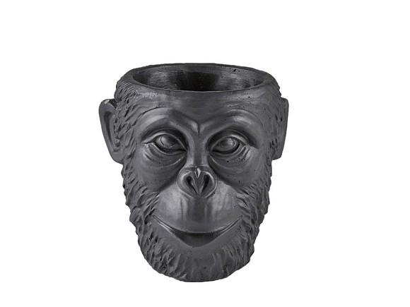 Vila Collection - Gorilla Head Flowerpot Small - Black (341751)