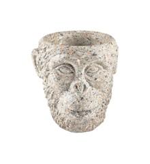 Vila Collection - Gorilla Head Flowerpot Small - Grey (12457)