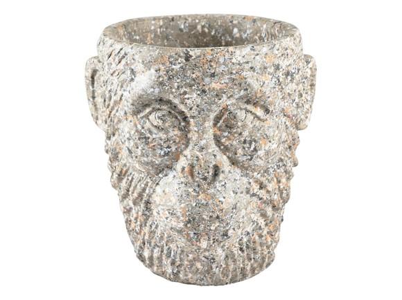 Vila Collection - Gorilla Head Flowerpot Medium - Grey (12462)