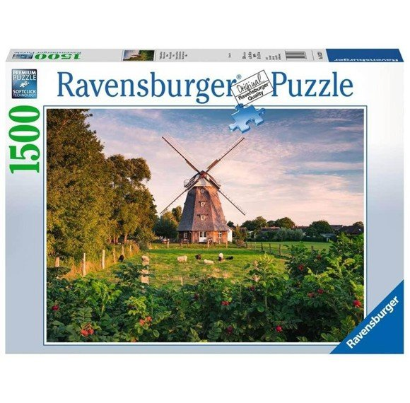 Ravensburger - Puslespil 1500 -  Windmill on the Baltic Sea (10216223)