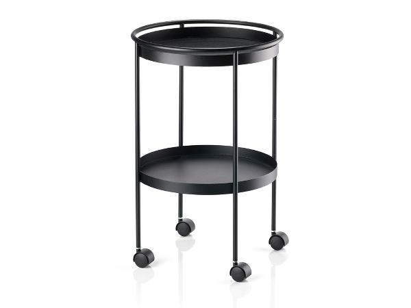 Zone - Rocks Serving Cart With Wheel - Black (12402)