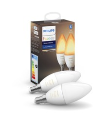Philips Hue -  E14 2-Pack Bulb - White Ambience - Bluetooth