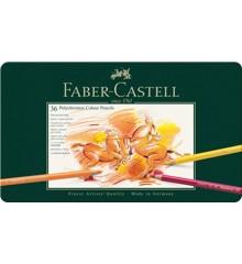 Faber-Castell - Polychromos farveblyanter - Metalæske med 36 stk  (110036)