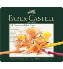 Faber-Castell - Polychromos colour pencil, tin of 24 (110024)