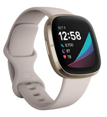 Fitbit - Sense Advanced Smart Health Smartwatch - White/Soft