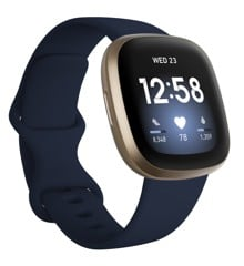 Fitbit - Versa 3 - Smart Watch - Midnight/Gold