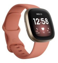 Fitbit - Versa 3 - Smart Watch - Clay/Gold