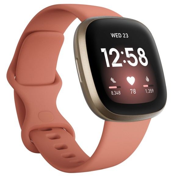 Fitbit - Versa 3 - Smart Watch - Clay/Gold