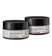 Ecooking - Body Scrub 03 300 ml + Body Butter 03 300 ml - Gavesæt
