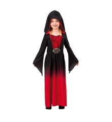 Red Dress w. Hood - Childrens Costume (Size 134 - 140)