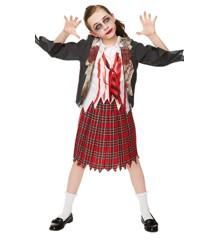 Zombie High School Pige - Teenage Kostume (Str. 158 - 164)
