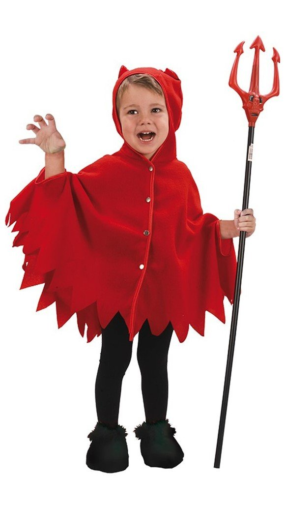 Mini Devil Poncho - Childrens Costume (Size 92 - 104)
