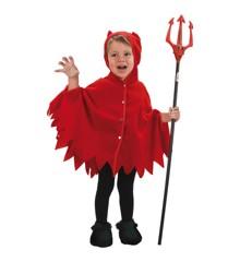Mini Djævel Poncho - Børne Kostume (Str 92 - 104)
