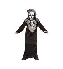 Skelet Dragt - Børne Kostume (Str. 110 - 116)