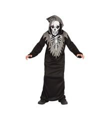 Skelet Dragt - Børne Kostume (Str. 134 - 140)