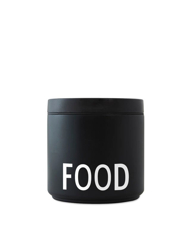 Design Letters - Thermo Lunch Box Large - Black (30101006BLAWHIFOOD)