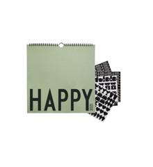 Design Letters - Væg Kalender 2021 - Mørke Grøn