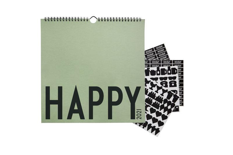 Design Letters - Wall Calendar 2021 - Dark Green (70201017DARKGREEN)
