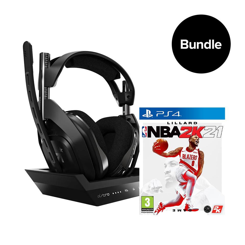 coolshop.co.uk - ASTRO A50 Wireless + Base Station & NBA 2K21 PS4/PC  – Bundle