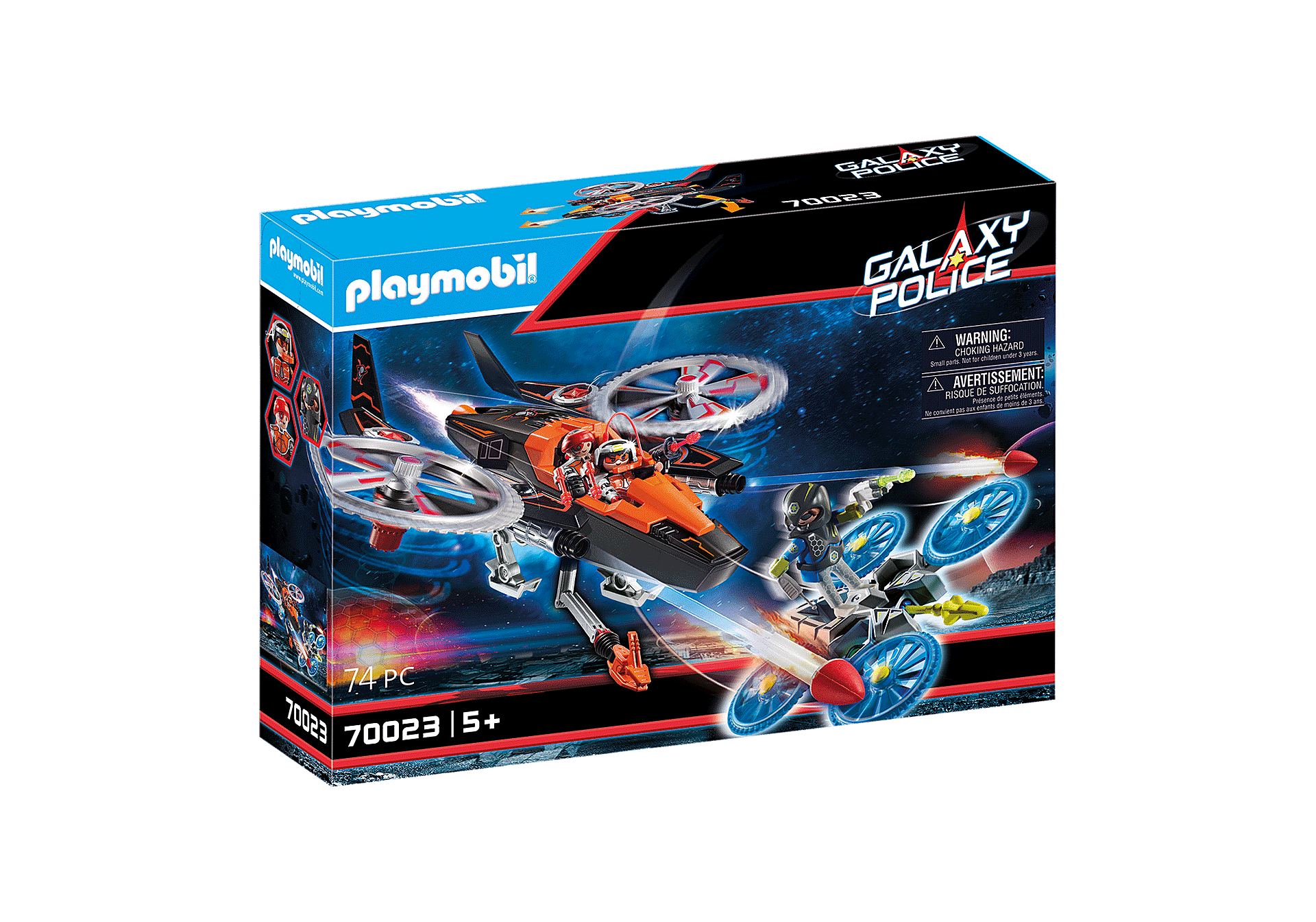 Playmobil - Galaxy Police - Space Priates Helicopter (70023)