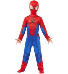 Spider-Man Klassisk Dragt - Børne Kostume (Str. Large)