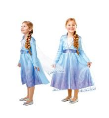 Frost - Elsa Rejse Kjole - Børne Kostume (Str. 104)
