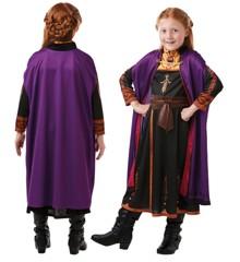 Frost - Anna Rejse Kjole - Børne Kostume (Str. 116)