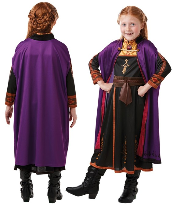 Frozen - Anna Travel Dress - Childrens Costume (Size 128)