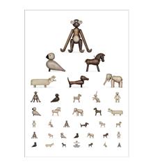 Kay Bojesen - Eye chart poster 50x70 cm brown/white (39490)