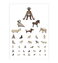 Kay Bojesen - Synstavlen Plakat 50 x 70 cm - Brun/Hvid