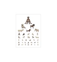 Kay Bojesen - Eye chart poster 30x40 cm brown/white (39499)