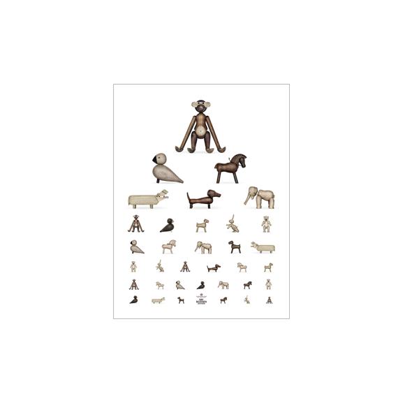 Kay Bojesen - Poster 30 x 40 cm - Brown/White (39499)