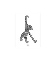 Kay Bojesen - Monkey poster 30x40 cm black/white (39497)