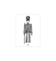 Kay Bojesen - Guardsman poster 30x40 cm black/white (39498)