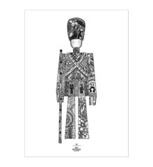 Kay Bojesen - Guardsman poster 50x70 cm black/white  (39489)