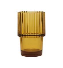 House Doctor - Rills Vandglas Sæt á 4 - Amber Brun