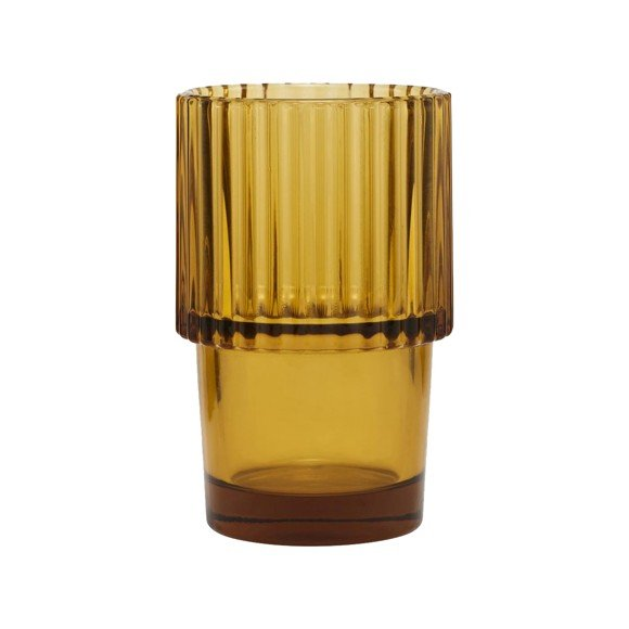 House Doctor - Rills Water Glass Set of 4 - Amber Brown (208770041)