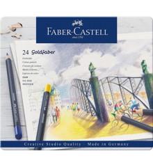 Faber-Castell - Goldfaber fargeblyant, tinn av 24 (114724)