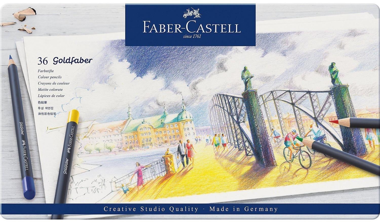 Faber-Castell - Goldfaber fargeblyant, tinn av 36 (114736)