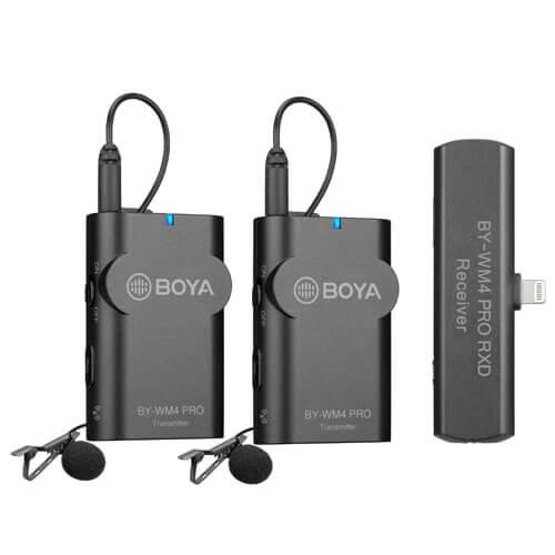 Boya - Microphone BY-WM4 Pro K4 Lavalier x2 Wireless Lightning