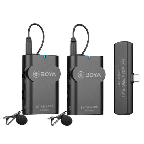 Boya - Microphone  BY-WM4 Pro K6 Lavalier x2 Wireless USB-C