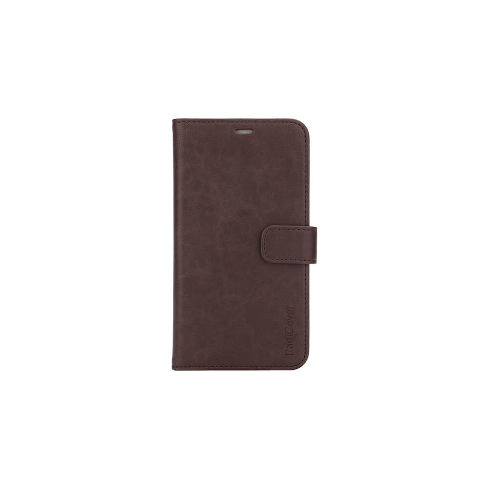 "RadiCover - Radiation Protection Wallet PU iPhone 12  5,4"" Flipcover - Brown"