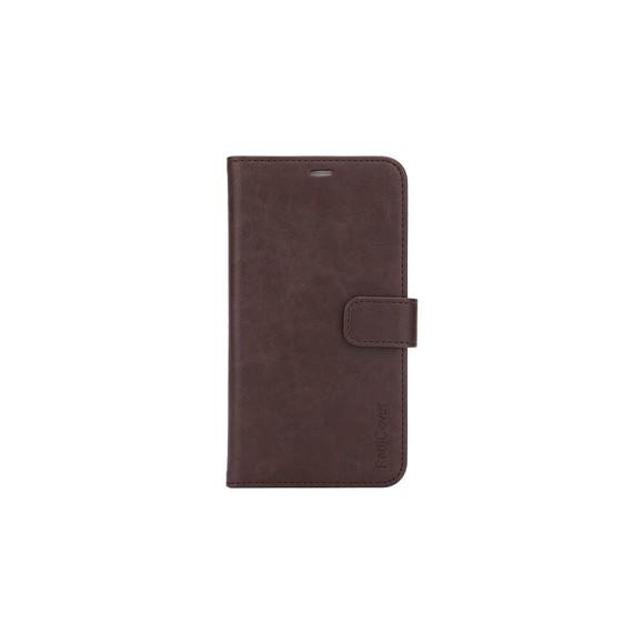 """RadiCover - Strålingsbeskyttelse  Wallet PU iPhone 12  5,4"""" Flipcover - Brun"""
