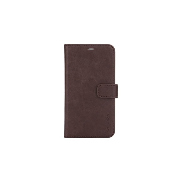 """RadiCover - Radiationprotected Wallet PU iPhone 12  6,1"""" Flipcover - Brown"""