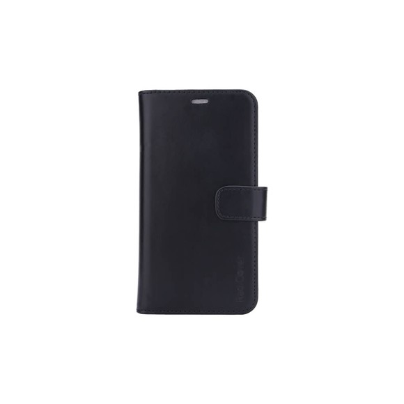 """RadiCover - Radiationprotected Mobilewallet Leather iPhone 12 6,1"""" 2in1 Magnetcover - Black"""